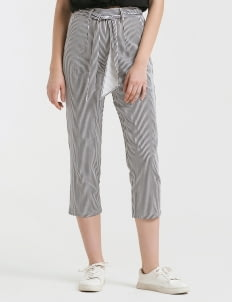 CLOTH INC Stripes Tied Piper Pants