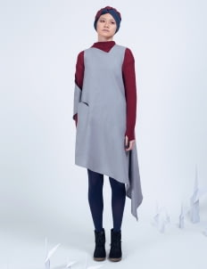 Amanda Rahardjo Light Gray Arcane Dress
