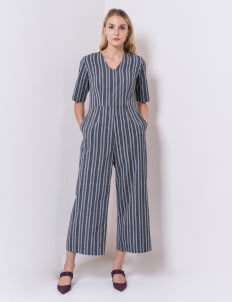 IKAT Indonesia by Didiet Maulana Gray Lana Jumpsuit