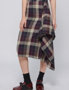 Shopatvelvet Tartan Binary Skirt