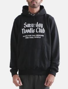 Saturday Noodle Club Black Cool Pullover Hoodie