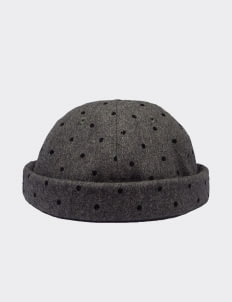 Cool Caps Polka Gray Beanie Cap