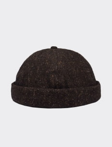 Cool Caps Tweed Black Beanie Cap