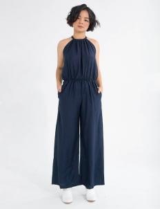Tees and Scissors Dark Blue Halter Jumpsuit