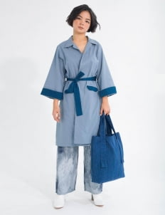 Tees and Scissors Blue Two Tone Doc Trench Dress