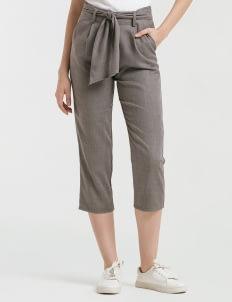 CLOTH INC Gray Tied Piper Pants
