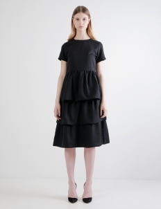 Posh The Label Black Bell Ruffle Dress