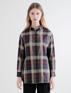 Shopatvelvet Tartan Sweden Two Way Shirt