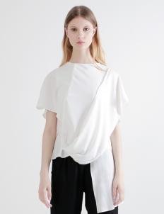 Shopatvelvet White Calla Shawl Top