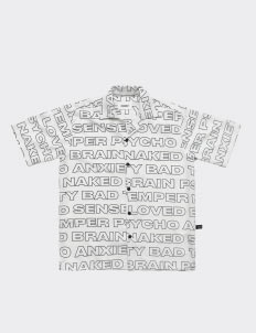 POSHBRAIN White Bad Temper Shirt
