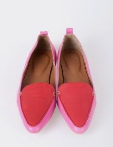 Aschas Pink Hepburn Flats