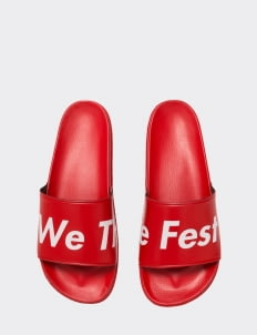 Monstore Red WTF Type Sandals