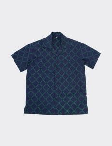 Monstore Navy Blue WTF Type Cuban Shirt
