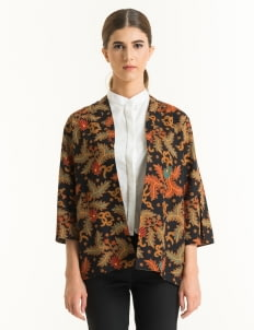 Bateeq Brown FL012E-SS18 Cotton Printed Cardigan