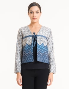 Bateeq Cream FL003F-SS18 Cotton Printed Cardigan