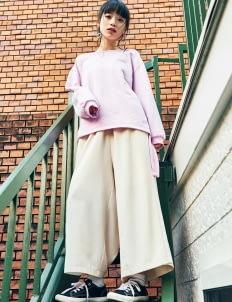E-hyphen World Gallery by Stripe Japan Pink Jackyn Knit Sweater