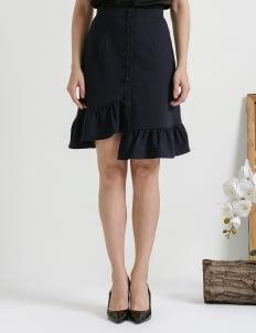 CLOTH INC Navy June Asymmetric Skirt