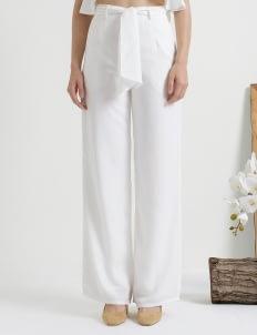 CLOTH INC White Tied Peg Pants