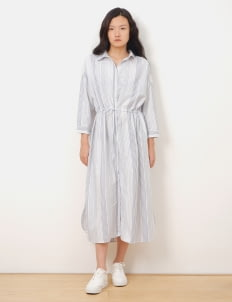 Earth, Music & Ecology by Stripe Japan Stripe White Ema Dress