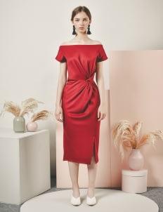Nore Maroon Tashia Dress