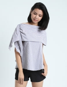 Calla The Label Gray Leann Drapery Top