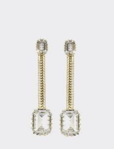 EPAJewel Gold Dangling Square Crystal Earring