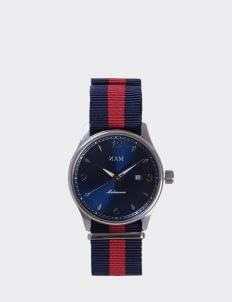 NAM Watch Blue Dial Mahameru Quartz with Blue Red Nato Strap MH-107 Watch