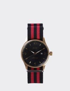 NAM Watch Black Dial Mahameru Quartz with Black & Red Nato Strap MH-129 Watch