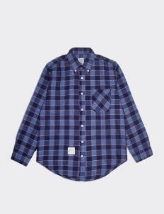 PMP Denim Blue Blunt Indigo Flannel Shirt