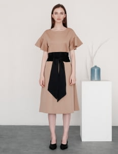 Posh The Label Brown Ally Flair Dress