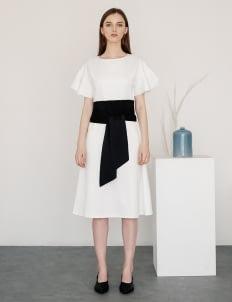 Posh The Label White Ally Flair Dress