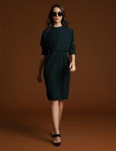 Wearstatuquo Green Uptown Dress
