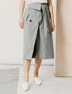 ATS THE LABEL Gray Abbie Skirt