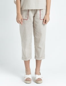 Calla The Label Cream Stripes Vanda Pants