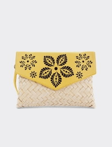Chameo Couture Canary Mae Felora Clutch Bag