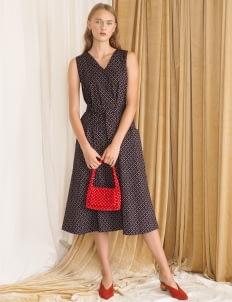 Starry Black Poppy Dress