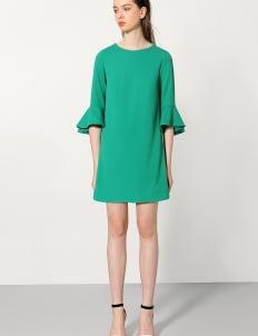 Saturday Club Green Bell Cuff Long Sleeved Shift Dress