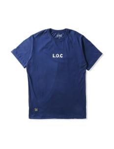 L.O.C Navy LOC Logo T-Shirt