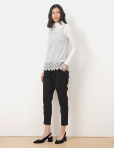 American Holic by Stripe Japan Black Morgan Ankle Pants