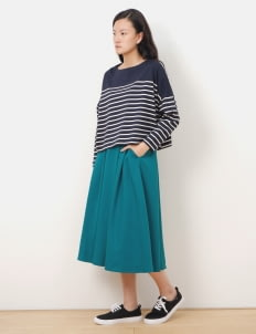 American Holic by Stripe Japan Green Dunn Midi Skirt