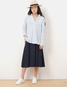 American Holic by Stripe Japan Navy Dunn Midi Skirt