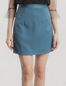 Cara Woman Blue Ruby Pearl Skirt