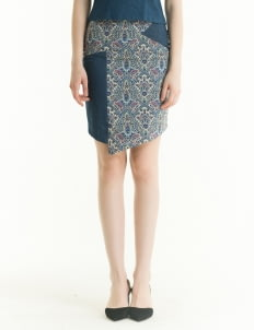 Bateeq Blue LA17/023C Regular Polyester Print Skirt