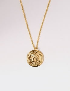 SERRA Gold French Coin Necklace