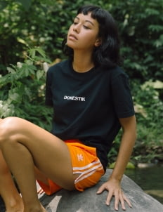 DOMESTIK Black Tropis T-Shirt