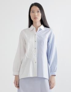 WILSEN WILLIM White & Cotton Blue Agnes Shirt