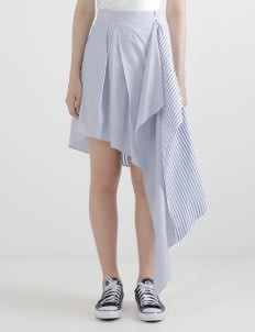 WILSEN WILLIM Dark Blue Lexy Skirt