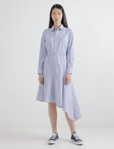 WILSEN WILLIM Blue Selvia Shirt Dress