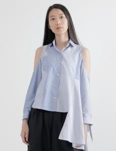 WILSEN WILLIM Dark & Light Blue Olivia Shirt