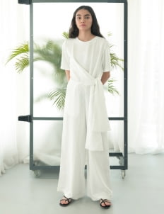 Eesome Off White Figs Jumpsuit